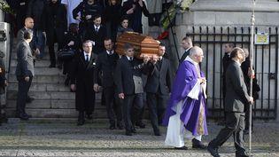 Les funérailles de Michel Delpech, à l'église Saint-Sulpice à Paris  (Alain Jocard / AFP)
