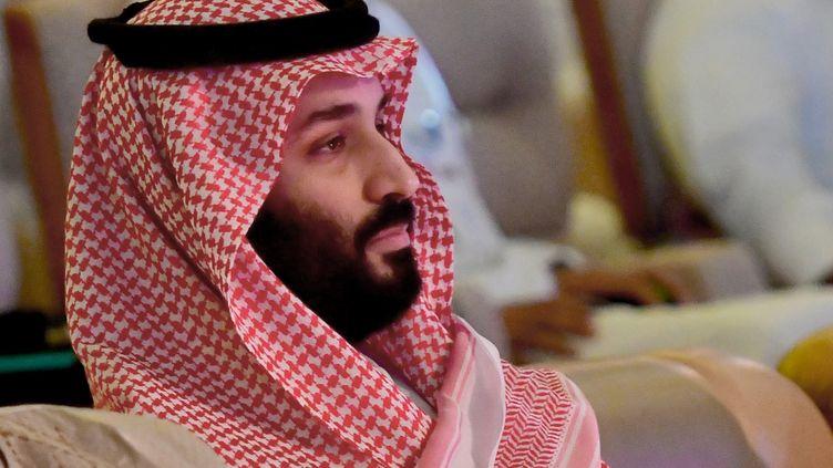 """Le prince héritier saoudien, Mohammed ben Salmane, le 24 octobre 2018, lors du """"Davos du désert"""", un forum économique mondial, organisé à Riyad (Arabie saoudite). (GIUSEPPE CACACE / AFP)"""