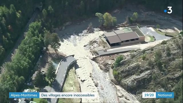 Tempête Alex : des villages d'Alpes-Maritimes sont encore inaccessibles