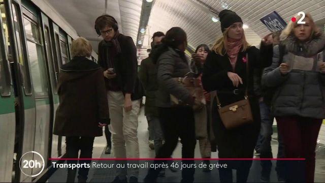 Grève des transports : à Paris, le trafic reprend après 46 jours