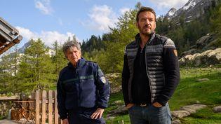 """Lionel Astier (Angelo) et Samuel Le Bihan (Alex Hugo) dans la série """"Alex Hugo"""", sur France 2 (saison 5). (FRANÇOIS LEFEBVRE)"""