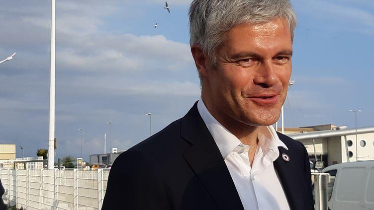 Laurent Wauquiez, président des Républicains, le 14 novembre 2018, ua Grau du Roi (Hérault). (SYLVIE DUCHESNE / FRANCE-BLEU GARD LOZÈRE)