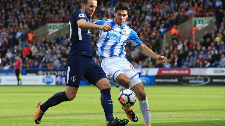 Harry Kane, auteur d'un doublé contre Huddersfield (LINDSEY PARNABY / AFP)