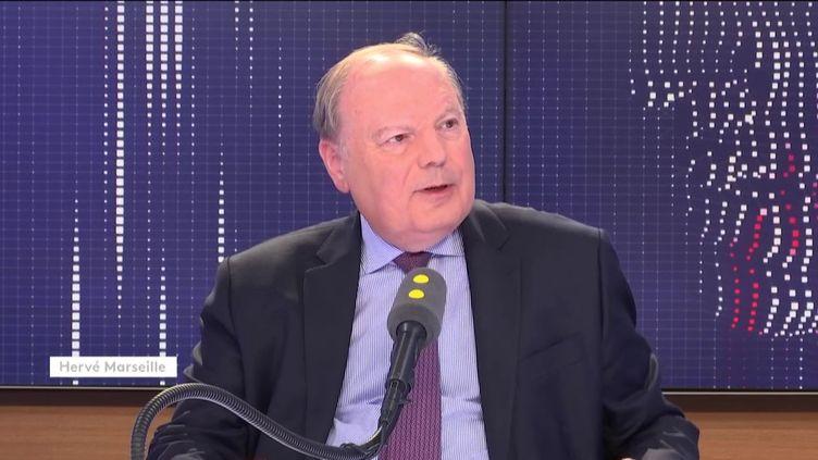 Hervé Marseille, sénateur UDI des Hauts-de-Seine, était l'invité de franceinfo le 4 juin 2019. (FRANCEINFO)