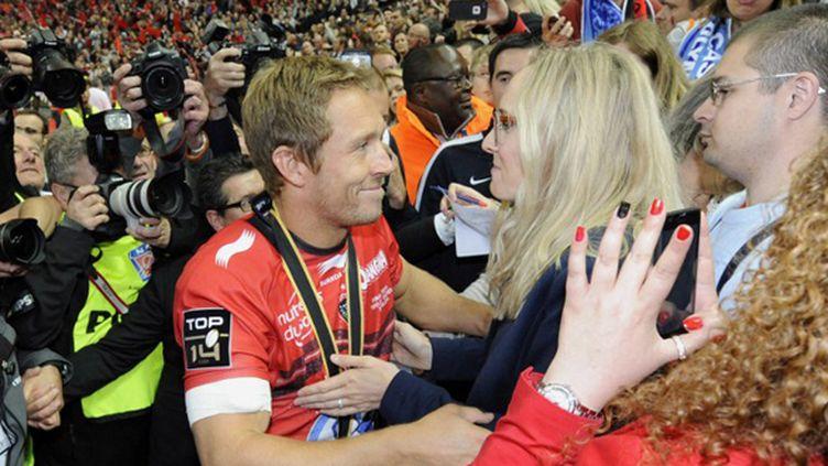 Jonny Wilkinson et sa femme Shelley (JEAN MARIE HERVIO / DPPI MEDIA)