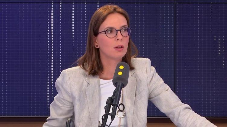 """Amélie de Montchalin, secrétaire d'État aux Affaires européennes, invité du """"8.30 franceinfo"""", mercredi 11 septembre 2019. (FRANCEINFO / RADIOFRANCE)"""