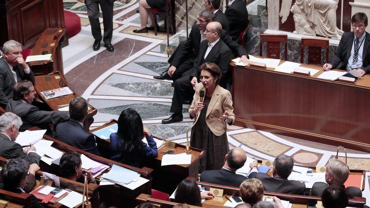 La ministre des Affaires sociales, Marisol Touraine, le 8 octobre 2013 à l'Assemblée nationale. (JACQUES DEMARTHON / AFP)