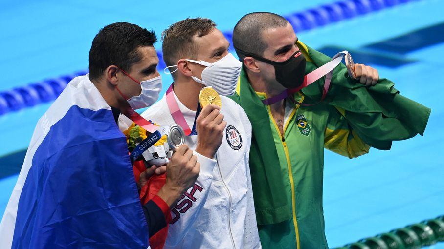 VIDEO. JO 2021 - Natation : revivez le troisième podium olympique sur 50 mètres de Florent Manaudou