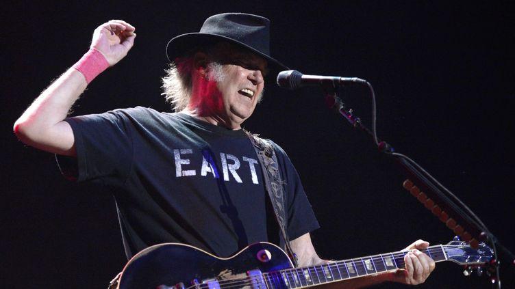 Neil Young lors de son concert à Vienne en Autriche en Juillet 2014  (EPA/MAXPPP)