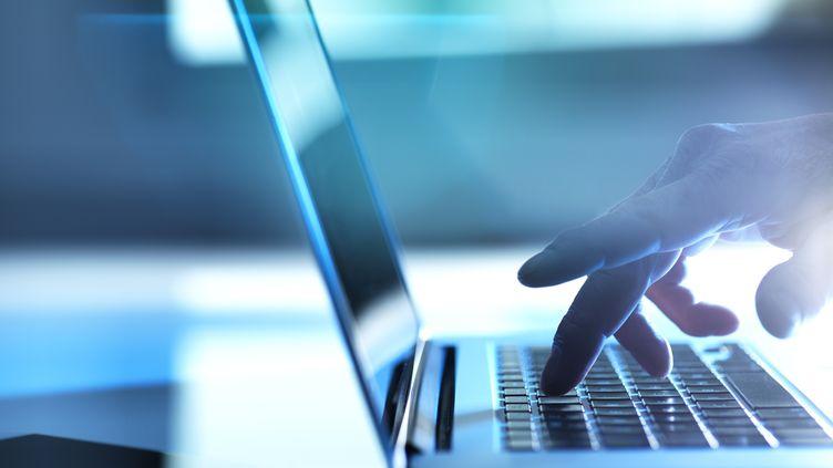Image d'illustration d'un homme travaillant sur son ordinateur portable. (TEK IMAGE / SCIENCE PHOTO LIBRARY / ABO / AFP)