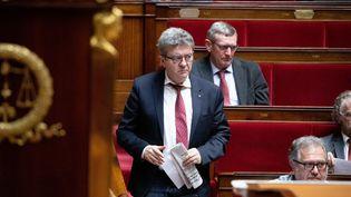Jean-Luc Mélenchon à l'Assemblée nationale, le 20 février. (CHRISTOPHE MORIN / MAXPPP)