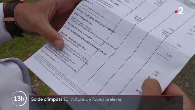 Solde d'impôt : dix millions de contribuables prélevés par l'administration fiscale