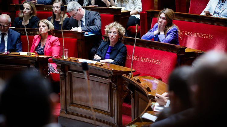 La ministre du Travail, Muriel Pénicaud (au centre), à l'Assemblée nationale, le 1er août 2017. (MAXPPP)