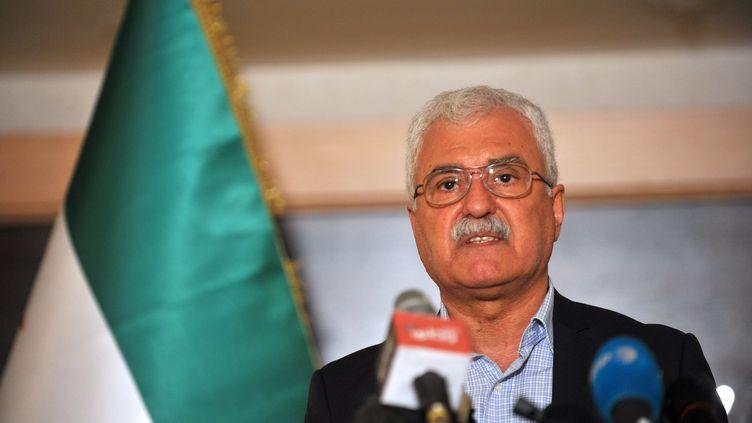 Le chef de l'opposition syrienne, George Sabra, lors d'une conférence de presse le 25 mai 2013, à Istanbul. (OZAN KOSE / AFP)