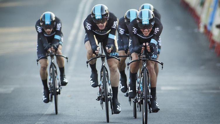 Les coureurs du Team Sky. (JAIME REINA / AFP)