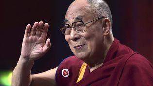 Le dalaï lama à Strasbourg, le 15 septembre. (PATRICK HERTZOG / AFP)