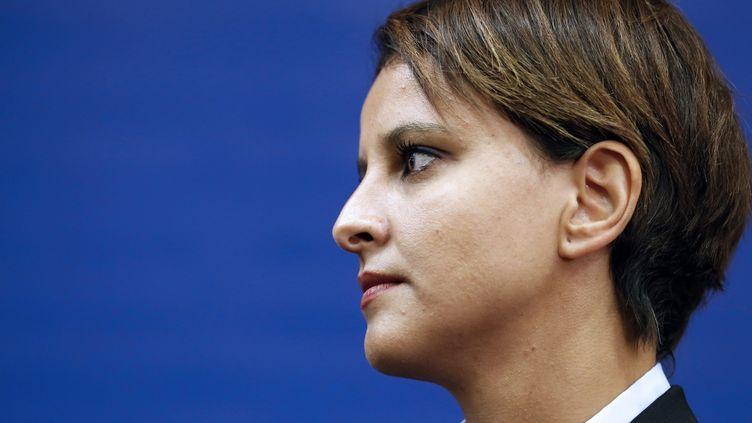 La ministre de l'Education, Najat Vallaud-Belkacem, à Paris, le 27 août 2014. (THOMAS SAMSON / AFP)