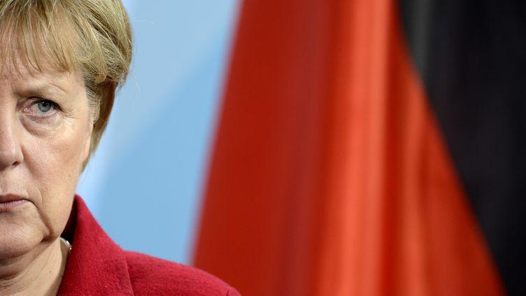 Angela Merkelà Berlin (Allemagne), le 9 mai 2012. (ODD ANDERSEN / AFP)