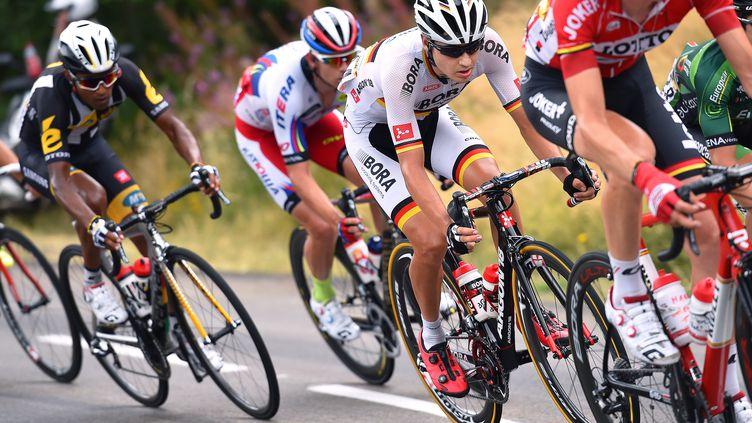 L'Allemand Emanuel Buchmann lors de la 15e étape du Tour de France, dimanche 19 juillet 2015, entre Mende (Lozère) et Valence (Drôme). (DE WAELE TIM / TDWSPORT SARL / AFP)