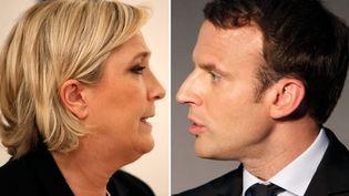 Marine Le Pen et Emmanuel Macron sont qualifiés pour le second tour de la présidentielle. (CHARLES PLATIAU / REUTERS)