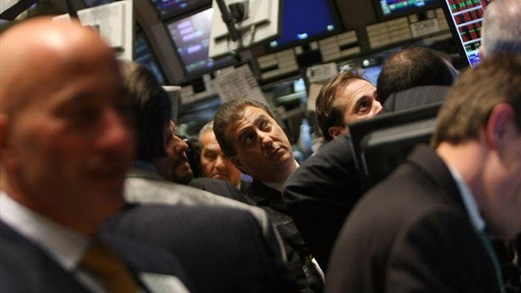A Wall Street un jour de 2008, en pleine crise économique. (AFP - Mario Tama - Getty Images)