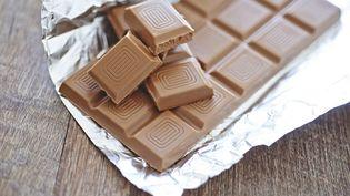 Une tablette de chocolat. (ALICE S. / BSIP / AFP)