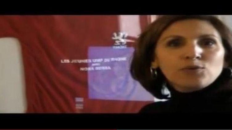 Capture d'écran de la vidéo de Nora Berra. (DR)