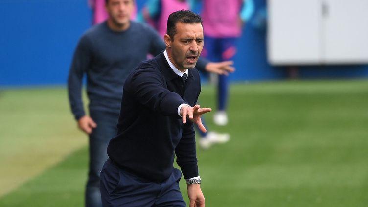 Olivier Echouafni, l'entraîneur du PSG. (LLUIS GENE / AFP)