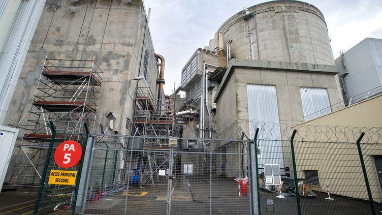 """François Hollande a confirmé la fermeture de la centrale nucléaire de Fessenheim (Haut-Rhin) pour la """"fin 2016"""". (SEBASTIEN BOZON / AFP)"""