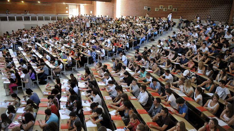 Etudiantes et étudiants dans un amphithéâtre, ici à Toulouse en faculté de droit économie et gestion. (MAXPPP)