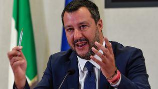 Le ministre de l'Intérieur italien, Matteo Salvini, à Rome, le 15 juillet 2019. (ANDREAS SOLARO / AFP)