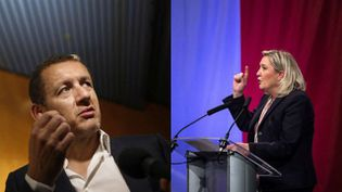 Dany Boon face à Marine Le Pen dans un photomontage. (DAVID MCNEW ET PHILIPPE HUGUEN / AFP)