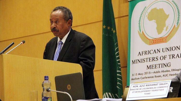 Le Secrétaire exécutif adjoint de la CEA, Abdallah Hamdok prononce un discours lors de la séance d'ouverture de la réunion de l'Union africaine sur le libre-échange à Addis-Abeba, en Ethiopie, le 14 mai 2015. (MINASSE WONDIMU HAILU / ANADOLU AGENCY)