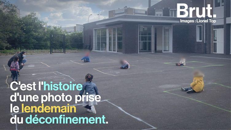 VIDEO. Lionel Top raconte les coulisses de sa photographie prise dans une cour d'école (BRUT)