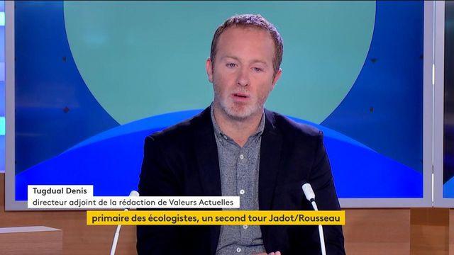 """Primaire des écologistes : pour Tugdual Denis, directeur adjoint de la rédaction de Valeurs Actuelles, """"Yannick Jadot a un profil plus réaliste"""""""
