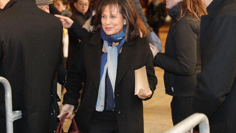"""Anne Sinclair, à la projection du film """"J'accuse"""" de Roman Polanski, le 12 novembre 2019, à Paris. (GEOFFROY VAN DER HASSELT / AFP)"""