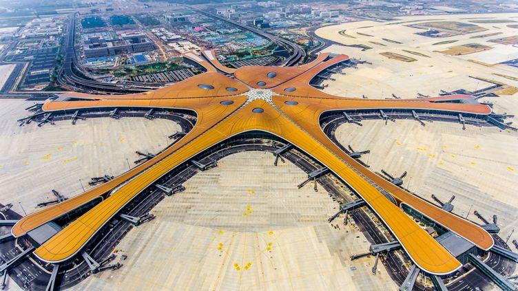L'aéroport international de Daxing (Chine), photographié le 28 juin 2019. (AFP)