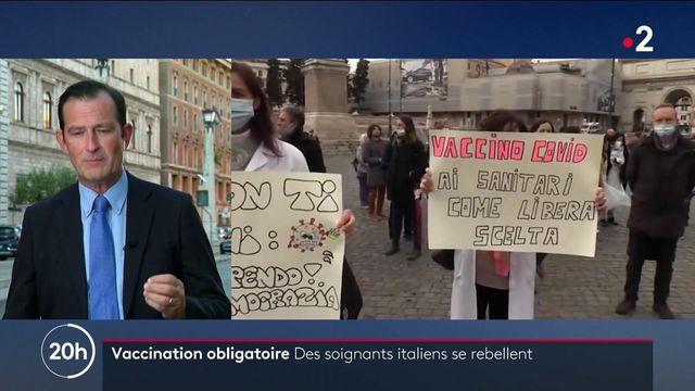 Covid-19 : en Italie, des soignants s'opposent à la vaccination obligatoire
