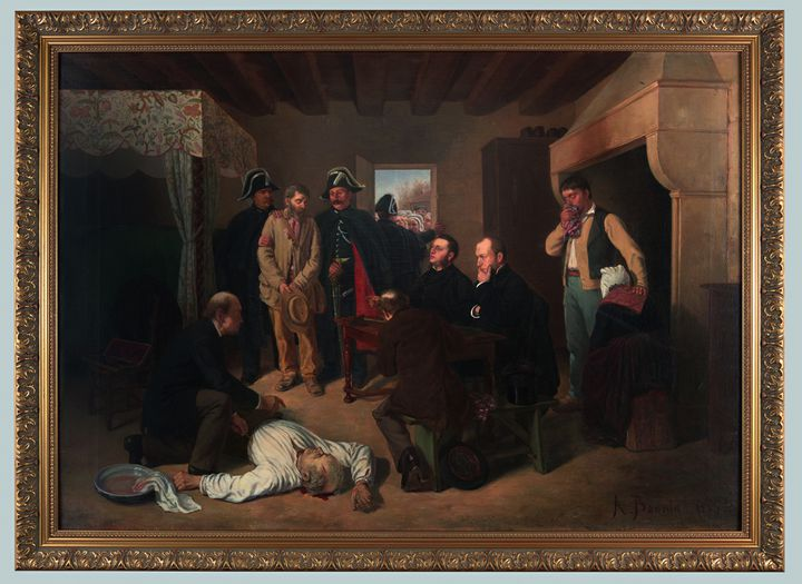 Une descente de justice / Alexandre Bonnin de Fraysseix (1841-1899), vers 1884, France / Huile sur toile, musée de la Roche-sur-Yon (Une descente de justice / Alexandre Bonnin de Fraysseix (1841-1899) / musée de la Roche-sur-Yon/ Adagp2019)