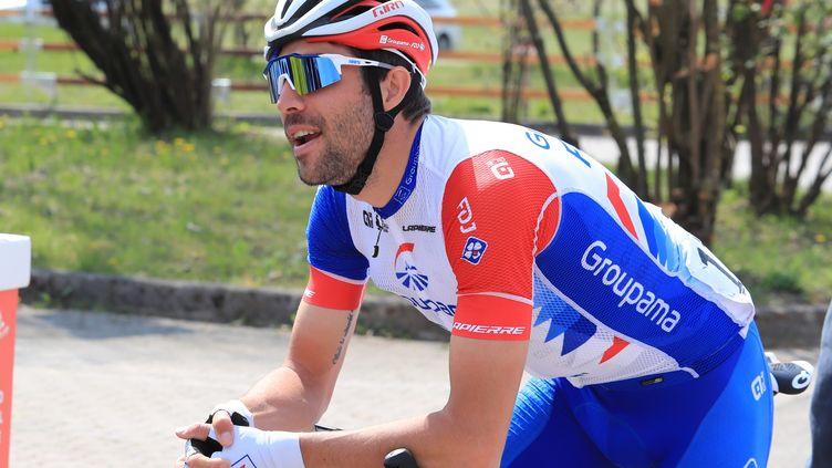Thibaut Pinot a fait son retour à la compétition sur la première étape du Tour du Limousin. (PIERRE TEYSSOT / MAXPPP)