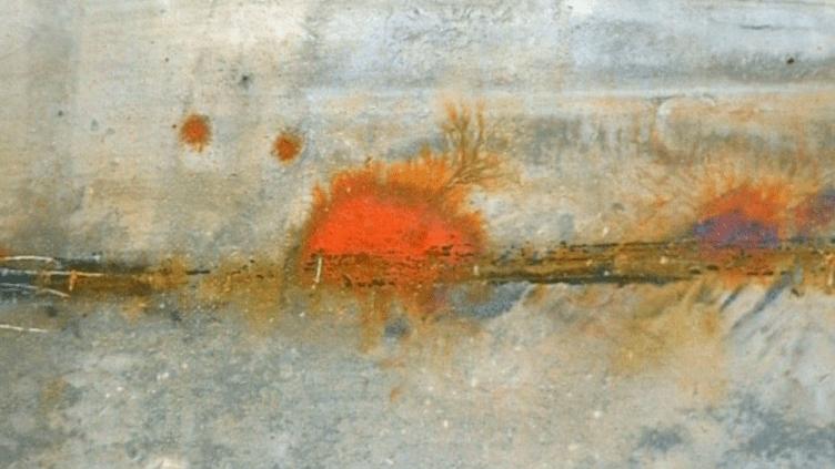 """Détail d'une oeuvre de Gilles Bellet. Exposé cet été à la librairie """"Le rêve de l'escalier"""" à Rouen  (France 3 / Culturebox)"""