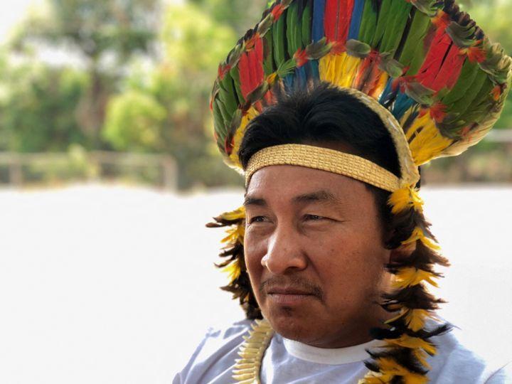 Antonio-José est le chef de la tribu des Karitiana qui compte environ 500 membres. (MATTHIEU MONDOLONI / FRANCE-INFO)