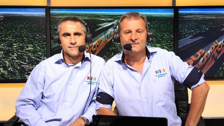 Laurent Jalabert et Thierry Adam sur le Tour 2011