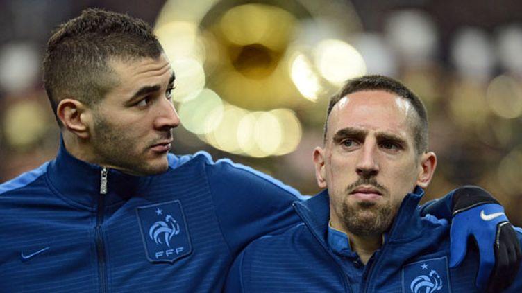 Benzema et Ribéry (FRANCK FIFE / AFP)