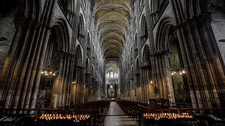 La cathédrale Notre-Dame de Rouen, le 4 juillet 2020. (SAMEER AL-DOUMY / AFP)