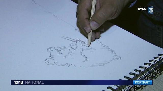 Ali Amra, journaliste et caricaturiste syrien, réfugié en France