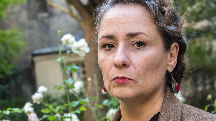 Eva Loubrieu, le 8 octobre 2018 à Paris. (VIOLAINE JAUSSENT / FRANCEINFO)