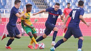 L'équipe de France olympique face à l'Afrique du Sud, le 25 juillet à Saitama (AYAKA NAITO / AFP)