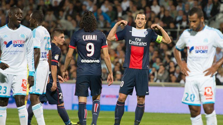 """Zlatan Ibrahimovic aura beau réajuster sa tunique, le """"Classique"""" a clairement perdu de sa superbe ces dernières années.  (BERTRAND LANGLOIS / AFP)"""