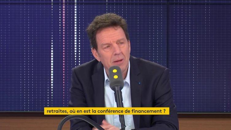 Geoffroy Roux de Bézieux, patron du Medef, sur franceinfo lundi 10 février. (FRANCEINFO / RADIOFRANCE)